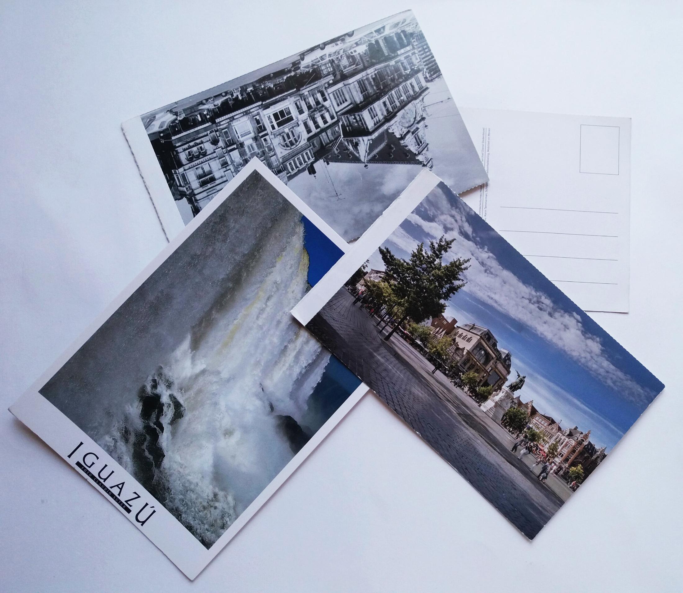 4 postcards