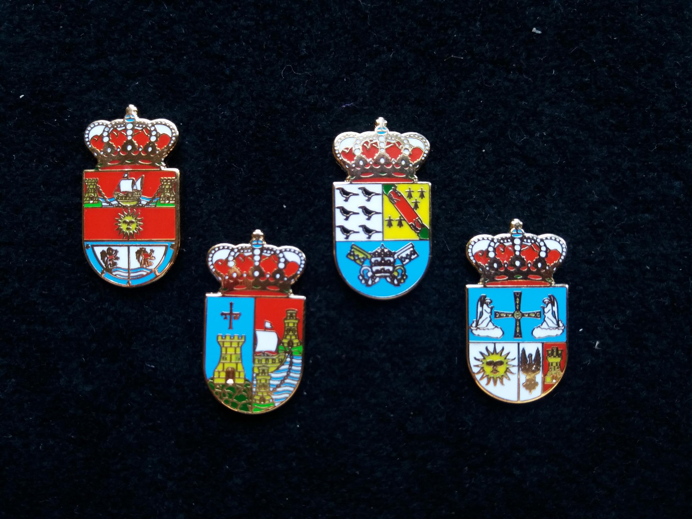 Corvera, Castrillón, Cudillero and Caravia heraldic pins
